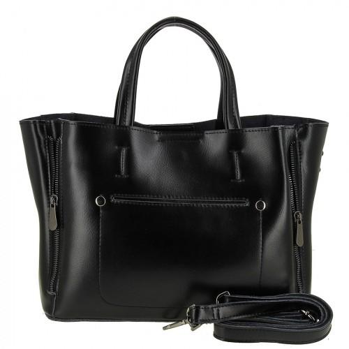Женская кожаная сумка 0017 BLACK