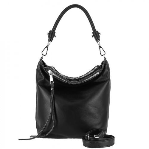 Женская кожаная сумка 1102 BLACK