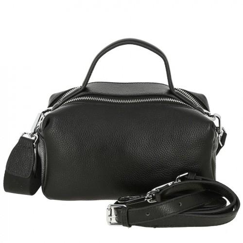 Женская кожаная сумка 1459 BLACK