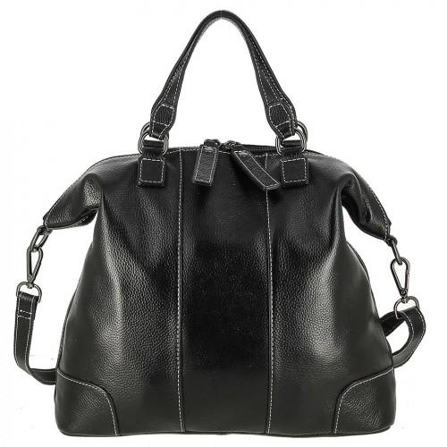Женская кожаная сумка 1603 BLACK
