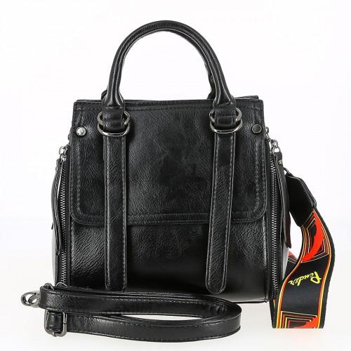 Женская кожаная сумка 180-19165 BLACK