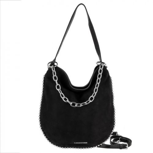 Женская сумка из кожи и замши 5120 BLACK