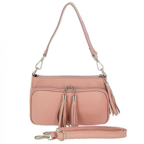 Женская кожаная сумка 6003 PINK