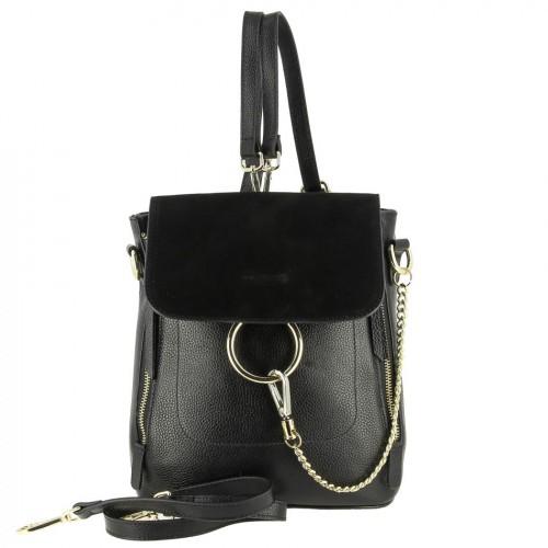 Женский рюкзак из кожи и замши 6008-2 BLACK