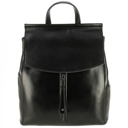Женский кожаный рюкзак 659 BLACK