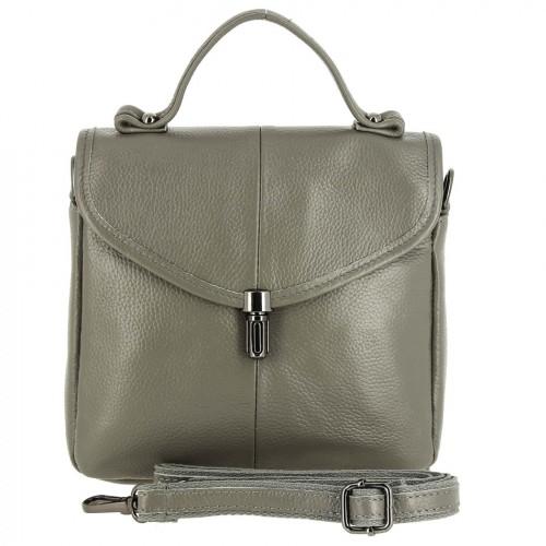 Женская кожаная сумка 723 GREY