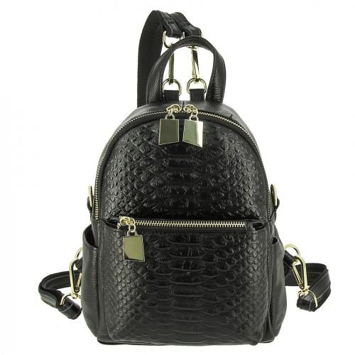 Женский кожаный рюкзак 801-927 BLACK