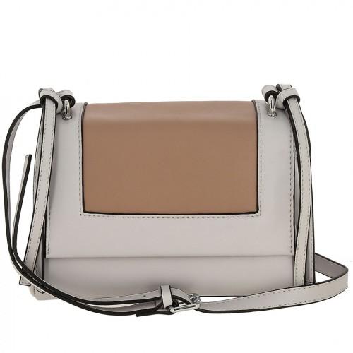 Женская кожаная сумка 8039 GREY PINK