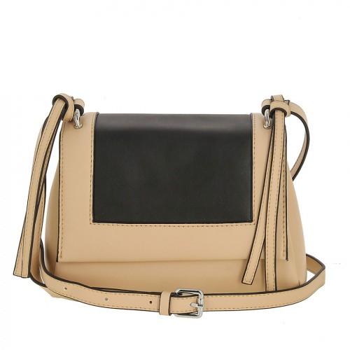 Женская кожаная сумка 8039 RICE WHITE BLACK