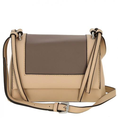 Женская кожаная сумка 8039 RICE WHITE GREY