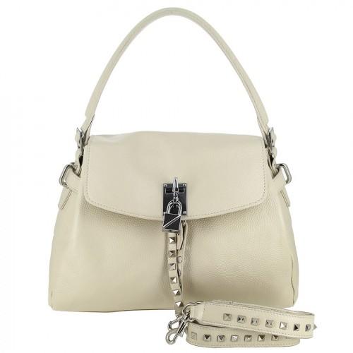 Женская кожаная сумка 8093 BEIGE