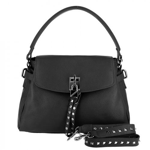 Женская кожаная сумка 8093 BLACK