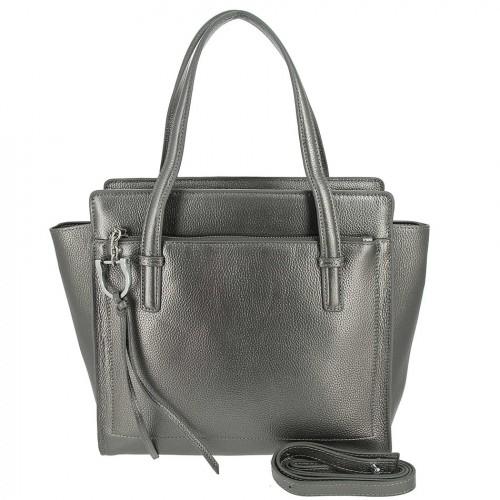 Женская кожаная сумка 8108 GREY