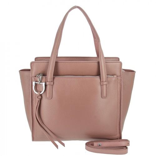 Женская кожаная сумка 8108 PINK