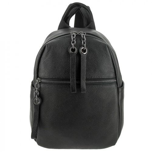 Женский кожаный рюкзак 8143 BLACK