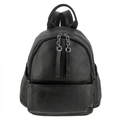 Женский кожаный рюкзак 8168 BLACK