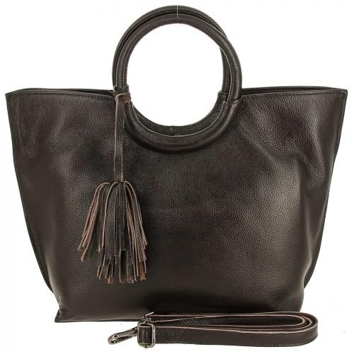 Женская кожаная сумка 82172-1 COFFEE
