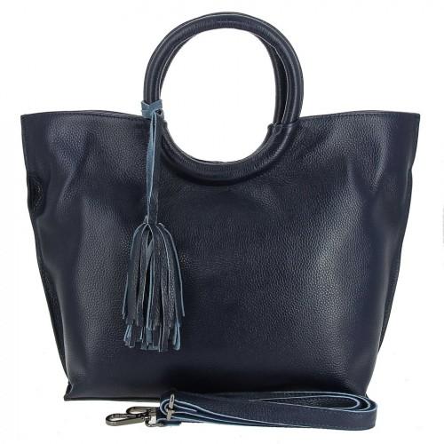 Женская кожаная сумка 82172-1 D BLUE