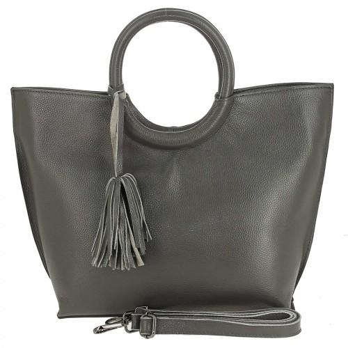 Женская кожаная сумка 82172-1 GREY
