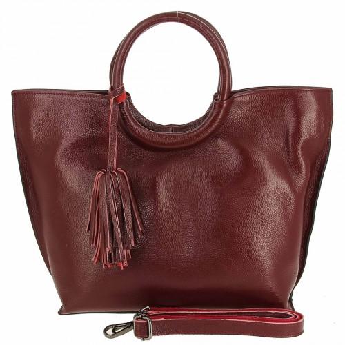 Женская кожаная сумка 82172-1 WINE