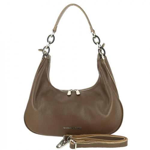 Женская кожаная сумка 83020 KHAKI
