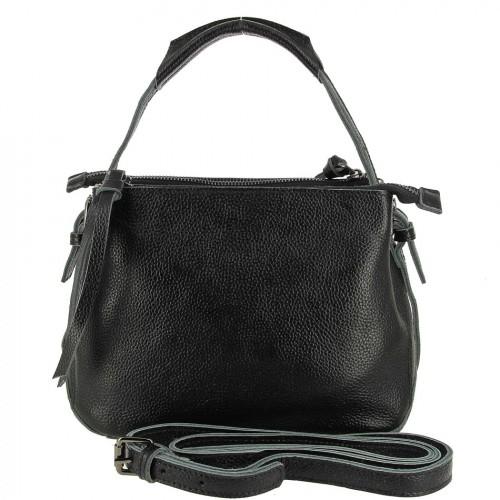 Женская кожаная сумка 832 BLACK