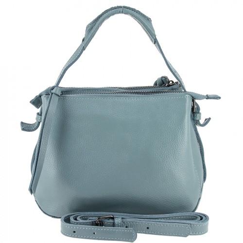 Женская кожаная сумка 832 BLUE