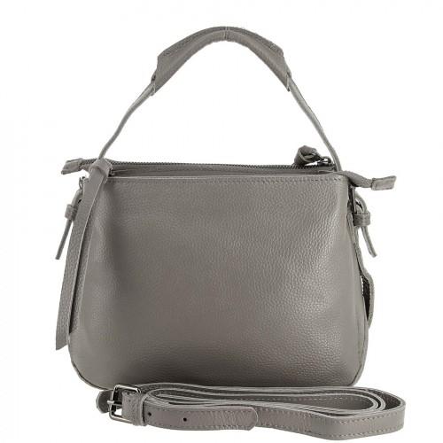 Женская кожаная сумка 832 GREY