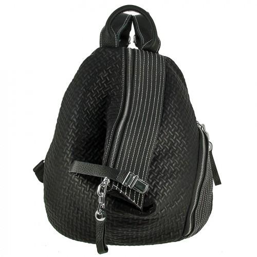 Женский кожаный рюкзак 8374 BLACK