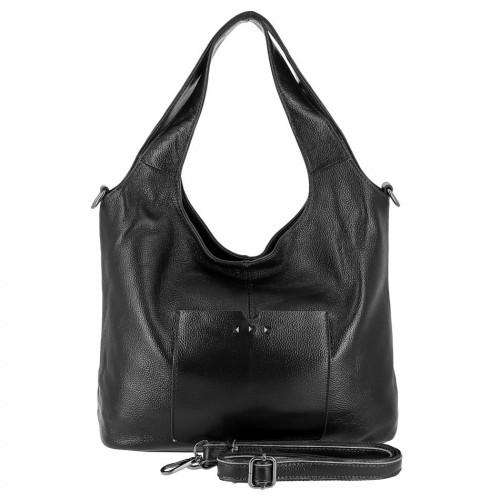 Женская кожаная сумка 89006 BLACK