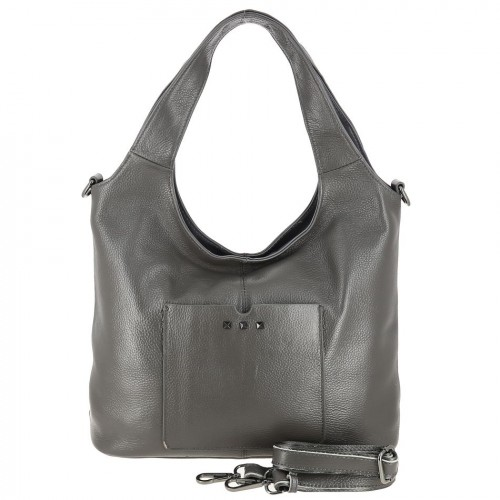 Женская кожаная сумка 89006 GREY