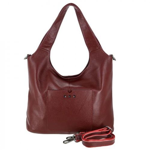 Женская кожаная сумка 89006 RED