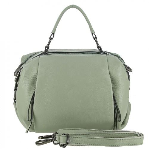 Женская кожаная сумка 90121 GREEN