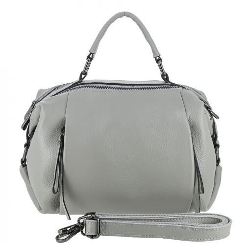 Женская кожаная сумка 90121 GREY