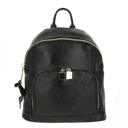 Женский кожаный рюкзак 902 BLACK