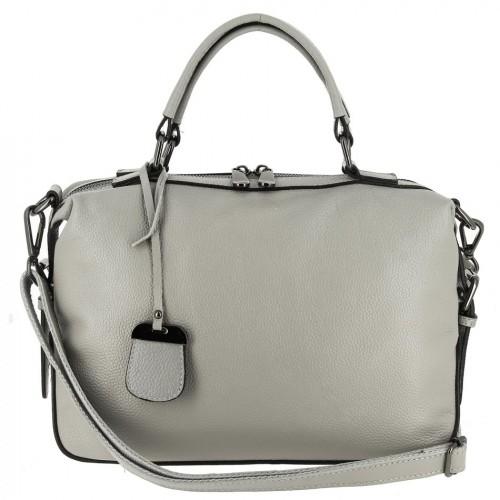 Женская кожаная сумка 9123 GREY